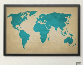 World map poster rustic vintage style travel map etsy rustic world map poster vintage map of the world printed canvas texture world map travel decor travel poster blue decor gumiabroncs Choice Image