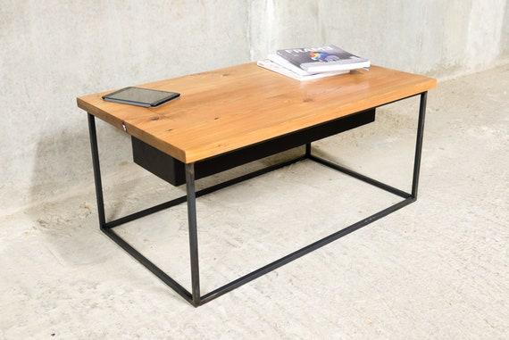 Reclaimed Coffee Table Hidden Storage Etsy