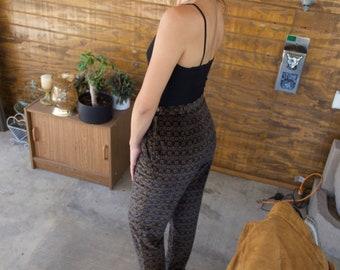 S//Italian High-waisted Copper Velvet Women's Pants