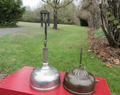 2 Vintage Antique Coleman Table Lamps Lantern Quick-Lite Instant-Lite Parts Repair Restore