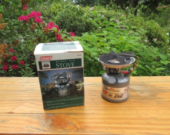 Vintage Coleman Dual Fuel Ultra Light Model 440 Backpacking Camp Stove in Box with Instructions Stove dated 01-93