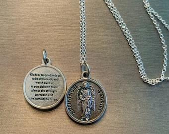 Gabriel The Archangel Pendant Sterling Silver St TONYS JEWELRY CO