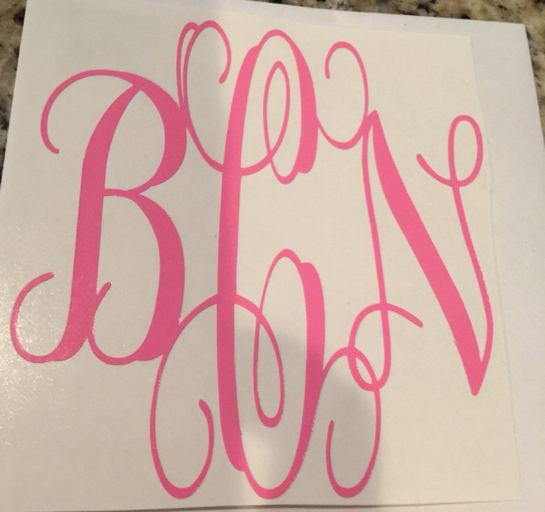 Monogram, Car Decal, Laptop Decal, Vinyl Lettering, Yeti Cup Decal, iPhone  Decal, Notebook Decal