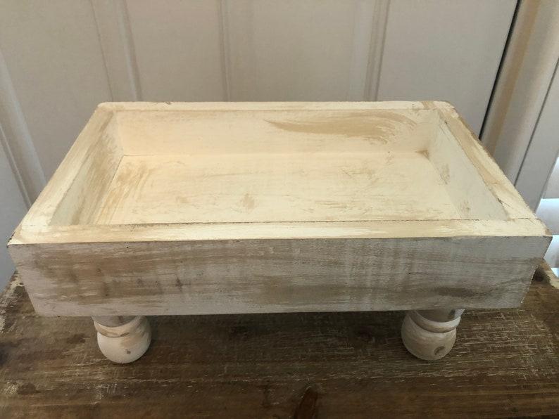 Rectangular Tray Riser Shabby Chic Riser Table Tray Riser Tray Riser