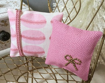 1:6 Scale Pillows,Doll Diorama Pillow,Blythe Pillow Set,Pullip Cushions,Dal Throw Pillow,Playscale Pillow,Dollhouse Textile,Miniature Pillow