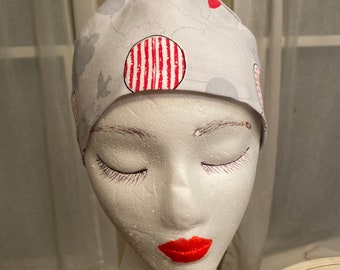 Scrub Hat Chef OR Nurse Chef Headcover OR Hat Labor Rn CRNa MediTech Unisex Red Pick-Up Truck Scrub Cap 1st Assist Hat OR Tech