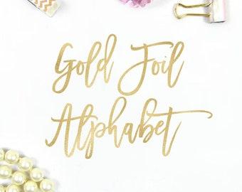 Gold foil letters | Etsy