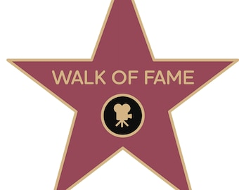 photo about Hollywood Star Template Printable called Stroll of fame star Etsy