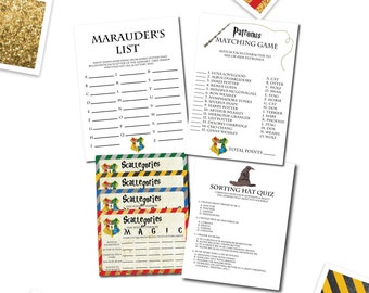 photo about Printable Sorting Hat Quiz titled Harry potter gold Etsy