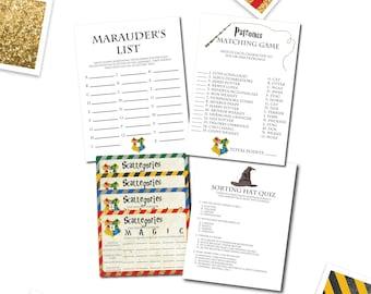 image regarding Printable Sorting Hat Quiz named Harry potter gold Etsy
