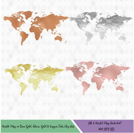 World map clipart rose gold world map gold world map copper world world map clipart rose gold world map gold world map copper world map silver world map foil world map decal for shops clip art from marysdesignhouse gumiabroncs Gallery