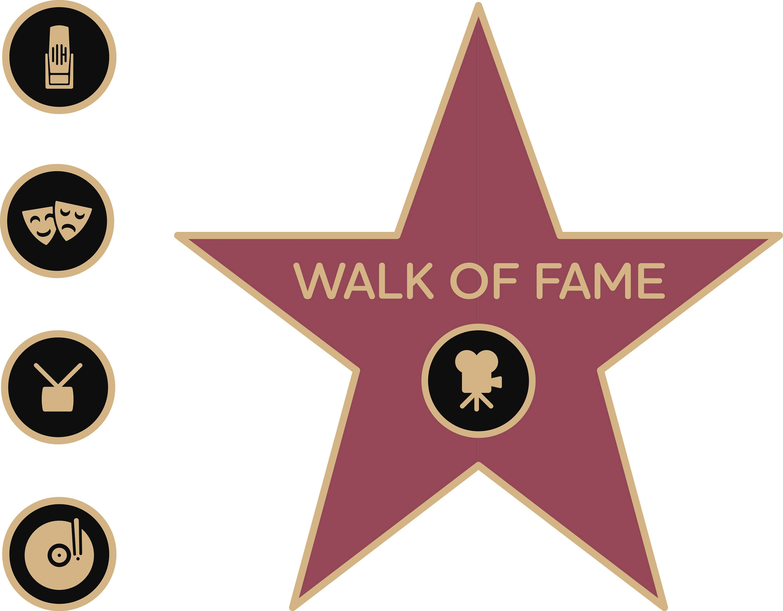 walk of fame star walk of fame svg walk of fame clipart digital rh etsystudio com hollywood walk of fame star clip art hollywood walk of fame star clip art
