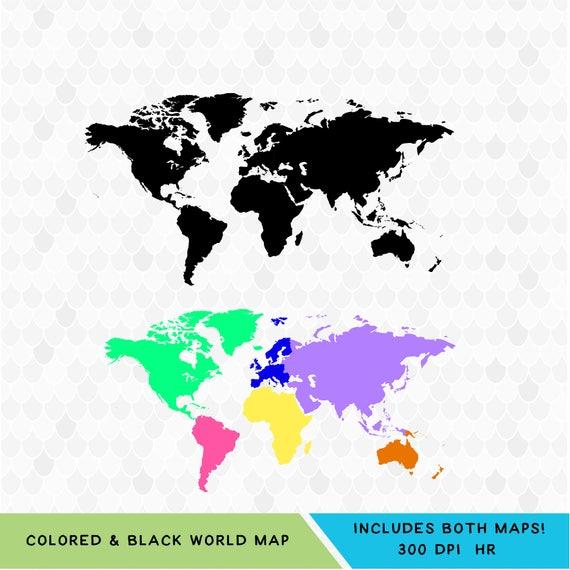 Weltkarte Digital SVG Dateien für Cricut Weltkarte SVG | Etsy