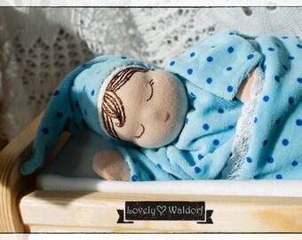 Heavy Millet Textile Doll, Waldorf inspired, Sleepyhead