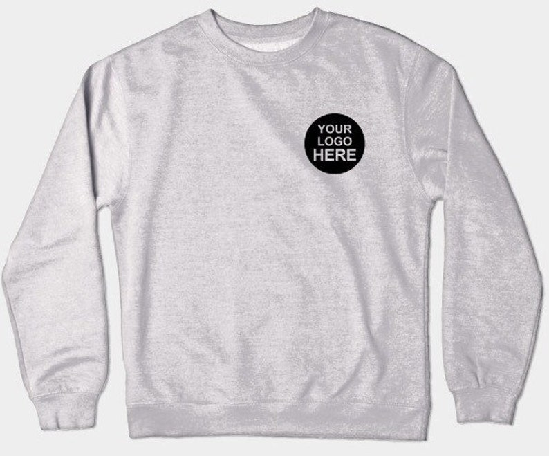 Custom Embroidered sweatshirt hoodie / Custom Logo embroidery crewneck  sweatshirts/ Embroidery company sweater / Personalize Your sweatshirt