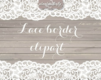 Wedding Clipart Lace Border Rustic Shabby Chic Bridal Shower INSTANT DOWNLOAD