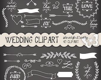 Lorbeer Clipart Hochzeit Hochzeit Einladung Digital Vintage Etsy
