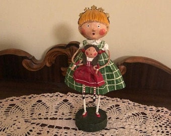 Lori Mitchell Holly/'s New Dolly Christmas Folk Art Collectible Figure