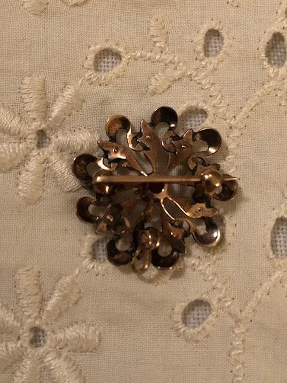 Vintage Antique Ornate Victorian Seed Pearl Garne… - image 5