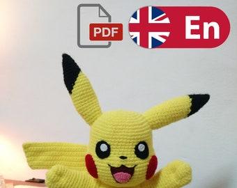 PIKACHU CROCHET PATTERN - Detective Pikachu Amigurumi Pdf pattern ... | 270x340