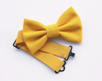 Baby Bow tie yellow, lemon tie for baby boy 0/12 years,pageboy,carrier rings,children's wedding,baby dress for wedding,baby accessories gift