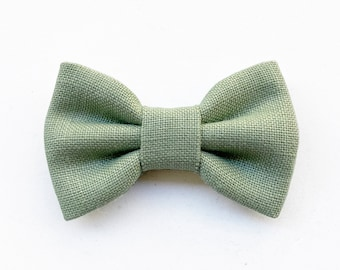 Sage bow tie for baby boy, ceremony bow tie for page boy, sage green themed wedding ceremony 2021, baby fashion, wedding summer 2021