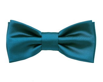 929200703a0a Bow tie for men's petrol blue, teal bow tie, blue navy wedding, bow ties  dark teal, ties for ceremony, elegant groom, bow ties for wedding