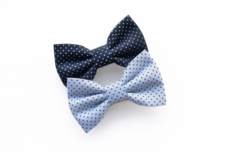 papillon per bambino blu a pois bianco e azzurro a pois etsy