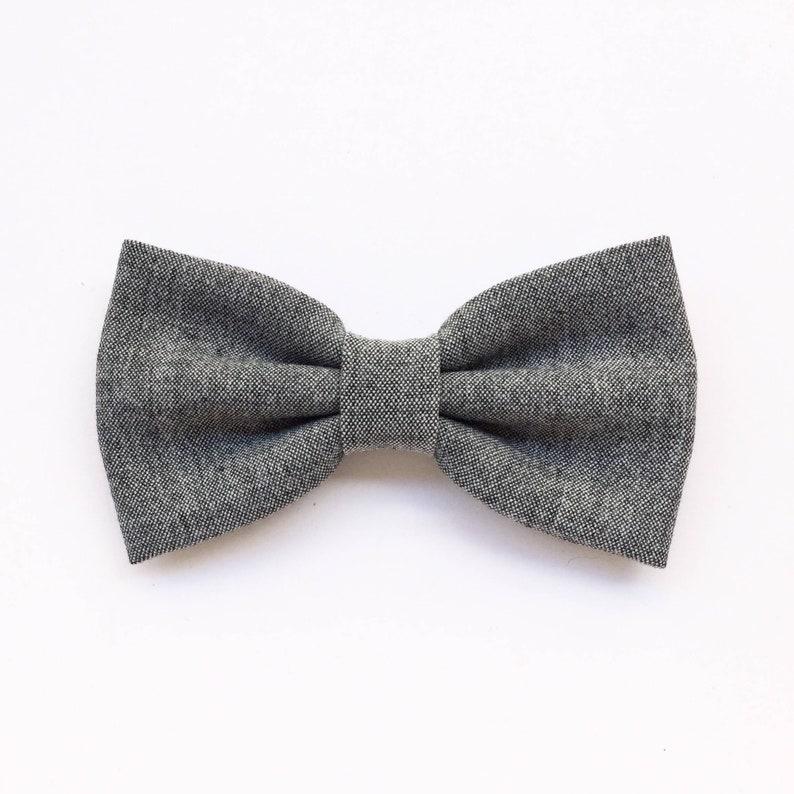 0db4de48623 Bow tie for men light graygray bowtie for vintage wedding
