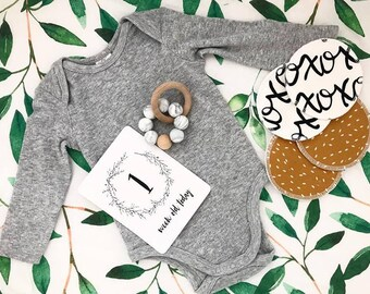 BABY MILESTONE CARDS - Botanical