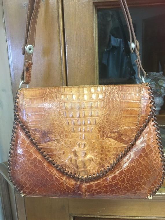 Vintage Alligator Shoulder Bag