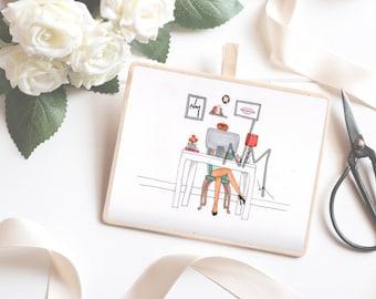 The Boss Fashion Illustration Print - Home Decor - Wall Art - Fashion Illustration - Art Print
