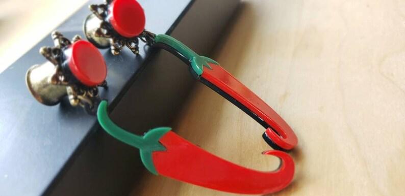 2g 4g 0g 00g Red Hot Chili Pepper Dangle Plug Gauges 6g