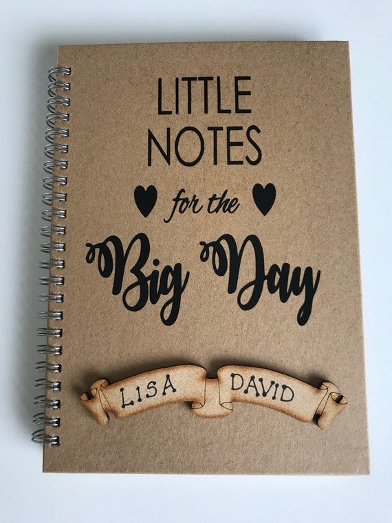 PERSONALISED Wedding notebook, wedding ideas, little notes for the big day  NOTEBOOK, wedding planning note book, journal, organiser