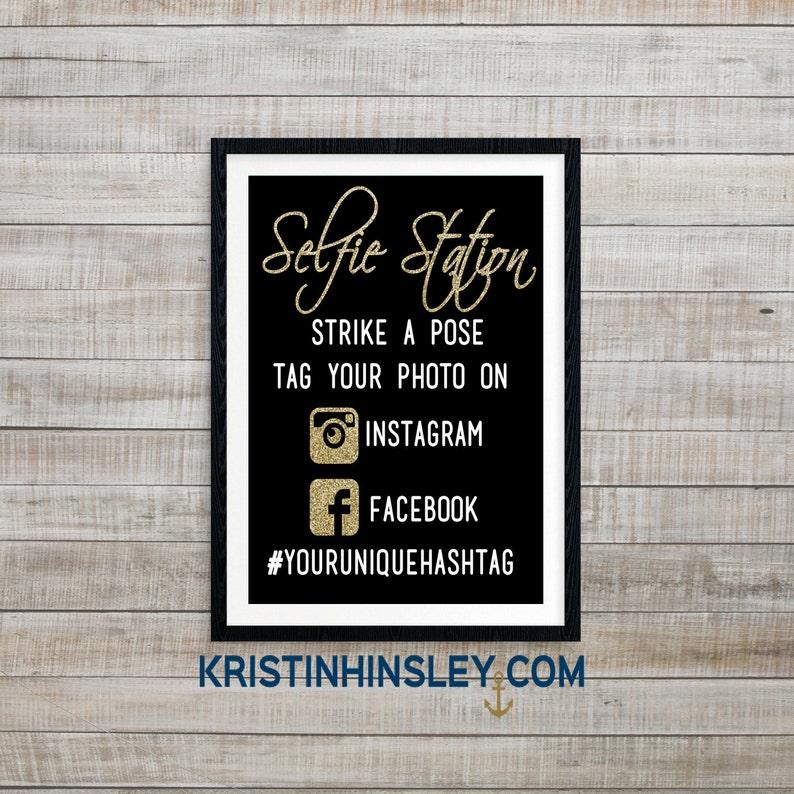 Selfie Station, DIY Photobooth Sign, Hashtag Sign, Custom Wedding Sign,  hashtag Wedding Sign, Photobooth Sign, Wedding Photo booth