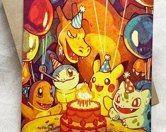 Pokémon Birthday Card - Blank Inside