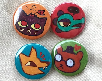 """Night in the Woods - 1"""" Pinback or Magnet Button Set"""