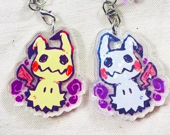 "Mimikyu - Pokemon 1.5"" Holographic Acrylic Charm"