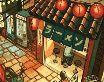 "Ramen in the Alley 11x17"" Art Print"