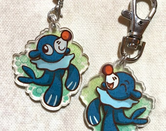 "Pokemon - Popplio 1.5"" Acrylic Charm - Keychain or Cell Phone Strap"