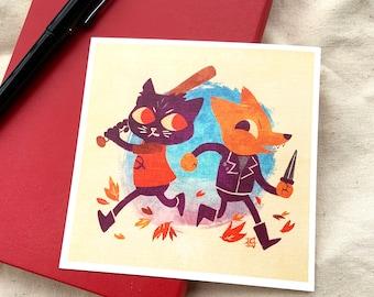 "Crimes - Night in the Woods 5x5"" Mini-Print"