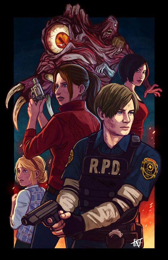 Resident Evil 2 11x17 Fan Art Poster Print Etsy