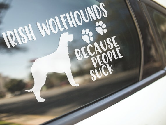 Irish Wolfhound Dog Art Decor Car Bumper Sticker /'/'SIZES/'/'