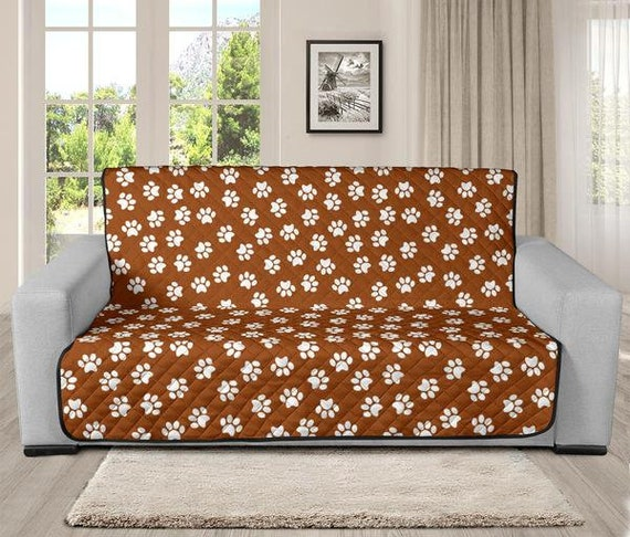 Pleasant Paw Print Pet Sofa Protector Cover 4 Sizes Chocolate Andrewgaddart Wooden Chair Designs For Living Room Andrewgaddartcom