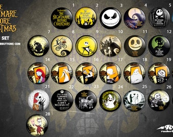 collection sheets nightmare before Christmas / / Nighmare before Christmas button collection