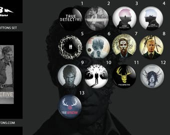 True Detective Buttons Collection//True Detective Veneer collection