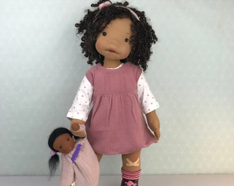 """Fully articulated waldorf doll *Pouvi* 20"""""""