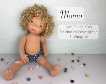 """Online-Puppen-Kurs """"Momo"""" - nähe eine vollbewegliche Stoffpuppe"""