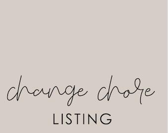 Change Chore for Chore Chart Customization ADD ON