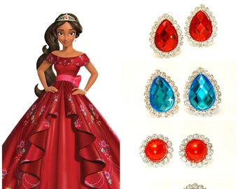 Princess Tiana Earring Princess And The Frogchildren Jewelry Etsy